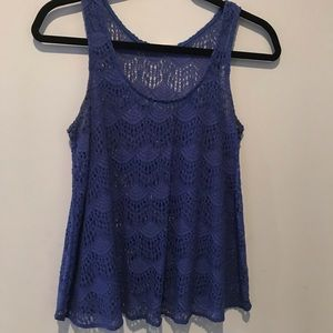 Lush knitted tank top